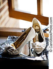 Wedding shoes - Photograph of a beautiful wedding shoes...