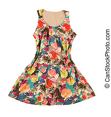 Vintage flower print dress - Vintage flower print sleeveless...