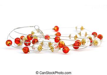 Beads of Murano glass