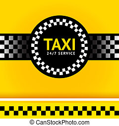 Taxi symbol, square Vector illustration 10eps