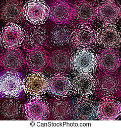 abstracted flower pattern