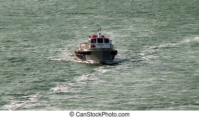 Pilot Boat in front of Panama Canal