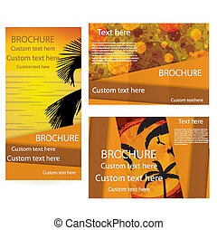 Vector Brochure Layout Design Template summer