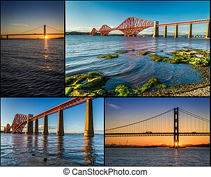 Postcard from Edinburghs Queensferry in summer