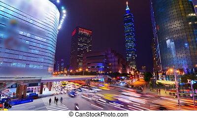 Taipei,Taiwan cityscape time lapse