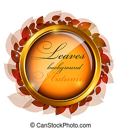 Abstract nature background with leaves. Vector iilustration