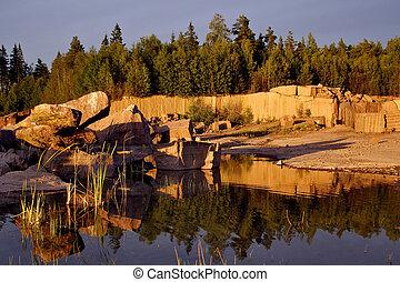 Landscape of Taivassalo, Finland
