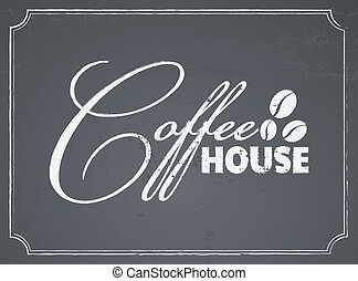 Chalkboard Coffee House Design - Chalkboard style coffee...