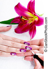 Gentle care of nails in a beauty sa