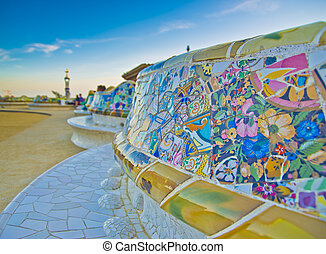 Park Guell, Barcelona - Spain - Park Guell in Barcelona....