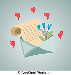 Letter with a flower