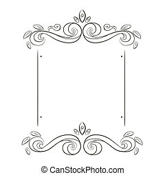 grunge flowers frame silhouette
