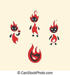 fiery monsters