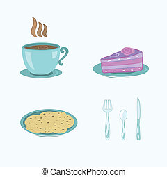 cup, cake, cookies