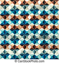 vintage mosaic seamless with grunge effect