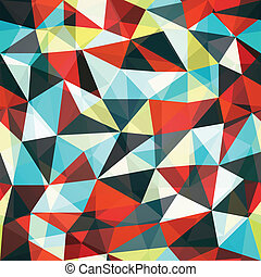 retro mosaic triangle seamless pattern