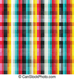 rainbow lines seamless pattern with grunge effect