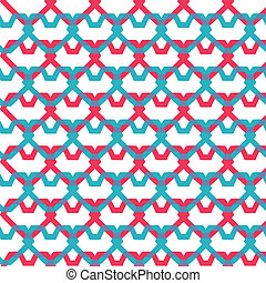 pink and blue hearts seamless texture