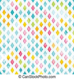 colored diamond seamless pattern