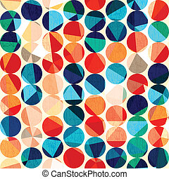 colored circles seamless pattern with grunge and glass...