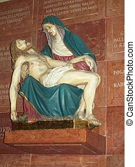 Pieta - The blessed virgin with Christ