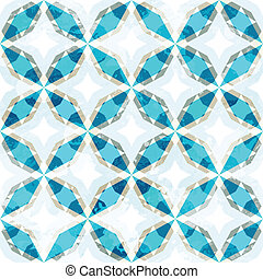 blue mosaic seamless pattern with grunge effect