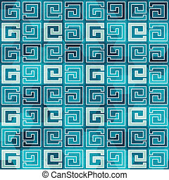 blue ancient seamless pattern with grunge effect