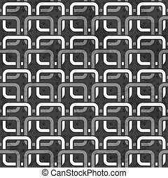 black and white chains seamless pattern
