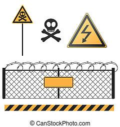 abstract warning signs set