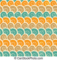abstract spiral beach seamless pattern with grunge effect