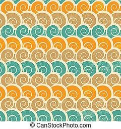 Abstrakcyjny, Spirala, Plaża, seamless, próbka,...