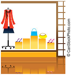Window display in store - This illustration is a common...