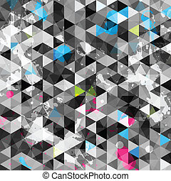 abstract grunge triangle seamless