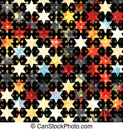 abstract grunge star seamless