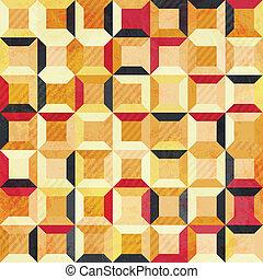 abstratos, grunge, célula, seamless, Padrão