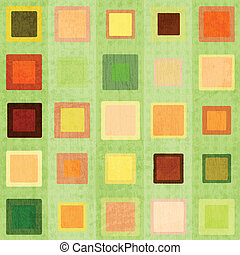 abstract green square seamless