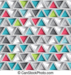 abstract colored triangle seamless pattern