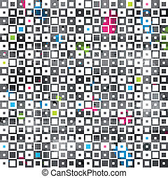 abstract color squares grunge seamless pattern