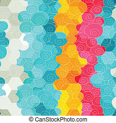 abstract color circle seamless pattern
