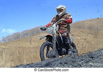 motocross bike in a race