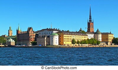 Old Town in Stockholm, Sweden - Scenic summer view of the...