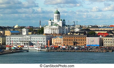 Aerial panorama of Helsinki,Finland - Scenic summer aerial...