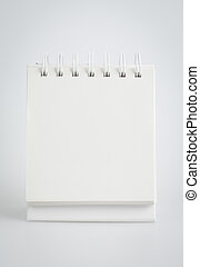 Blank spiral note pad - Blank white spiral note pad - self...