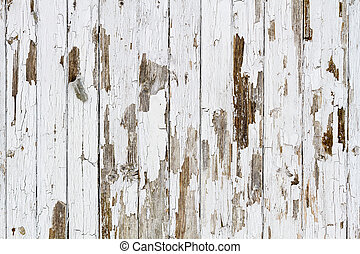 Old white weathered wooden background no. 3