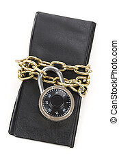 Checkbook and Chain, concept of Recession or Safety