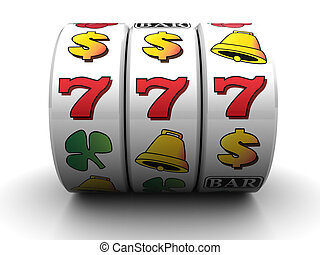 jackpot - 3d illustration of jackpot symbol over white...