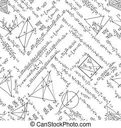 Maths seamless pattern. EPS 8 - Maths seamless pattern. And...
