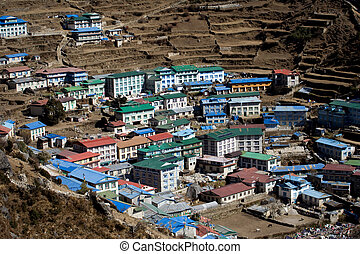 Namche Bazar is a villagesmall town and a main stop-off for...