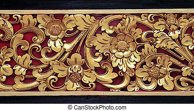 Wooden background - Wooden surface decorated with a groove