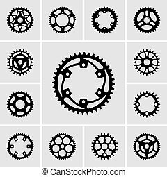 Set of sprocket icons